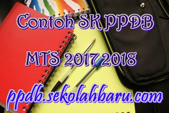 Contoh SK PPDB MTS