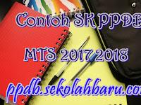 Contoh SK PPDB MTS 2017 2018
