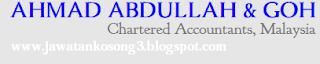 Kerja kosong Terkini Ahmad Abdullah&Goh