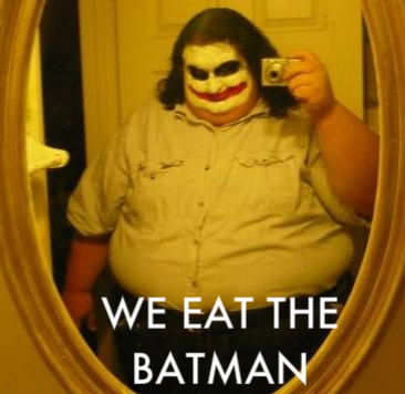 We eat the Batman joker