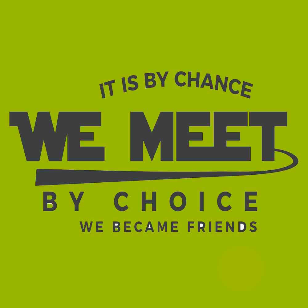 """It is by chance that we met, by choice that we became friends."" - Henri J.M. Nouwen Quote"