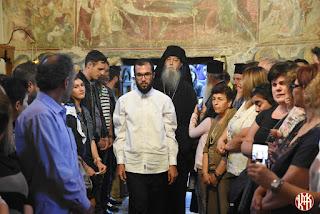 Τη Δευτέρα 16 Οκτωβρίου, ημέρα κατά την οποία εορτάστηκαν τα Ελευθέρια της Κατερίνης από τον Τουρκικό ζυγό, στην Ιερά Μονή Αγίου Γεωργίου Ρητίνης, πραγματοποιήθηκε μοναχική κουρά.