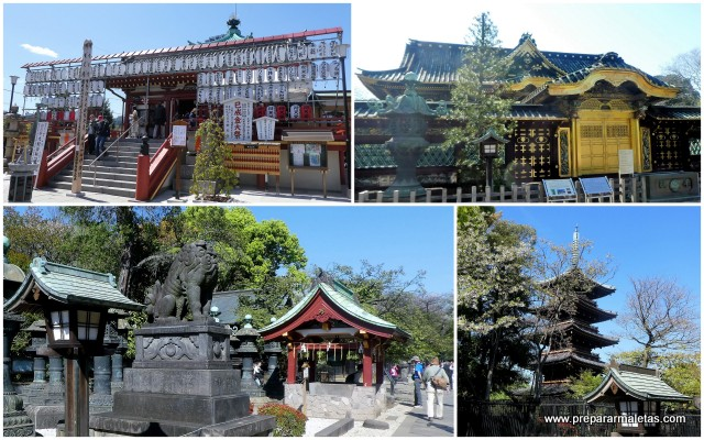 templos y santuarios en el parque Ueno Tokio