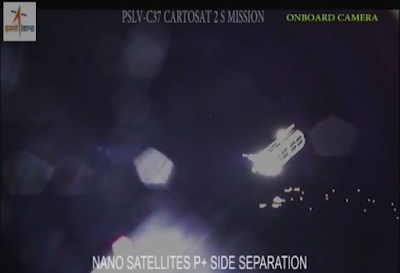 satellite deployment from India's PSLV-C37