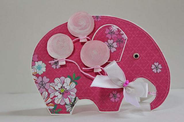 открытка слоник