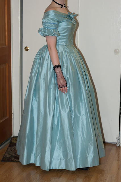 Late 1830s Ball Gown side view
