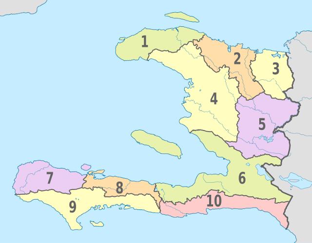 Pembagian wilayah administratif Haiti