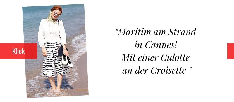 Culotte am Strand / Modeblog für Frauen ab 40