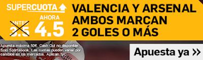 Betfair cuota mejorada Europa League Valencia vs Arsenal 9 mayo