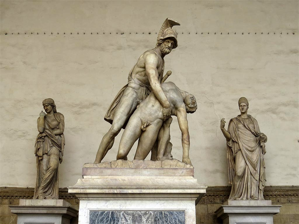 Menelaus supporting the body of Patroclus, Pasquino Group, Loggia dei Lanzi, Piazza della Signoria, Florence