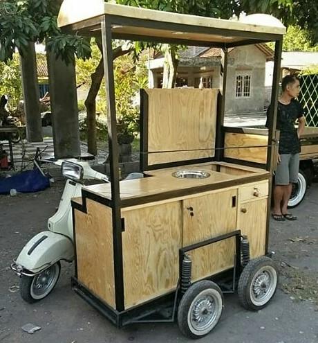 model gerobak jualan kekinian terbaru