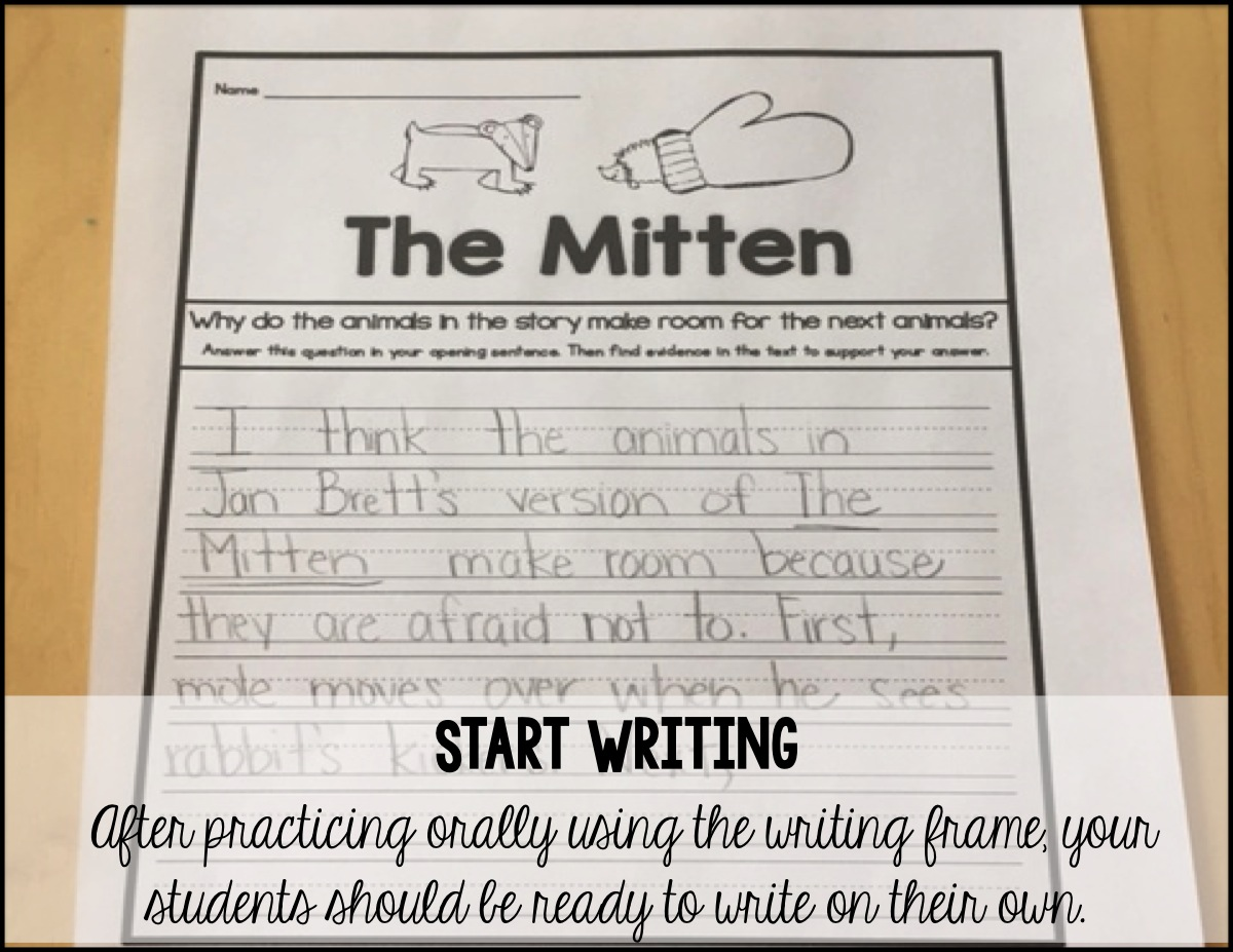 Sarah S First Grade Snippets Digging Deeper With The Mitten