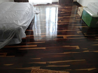 lantai kayu sonokeling rumah