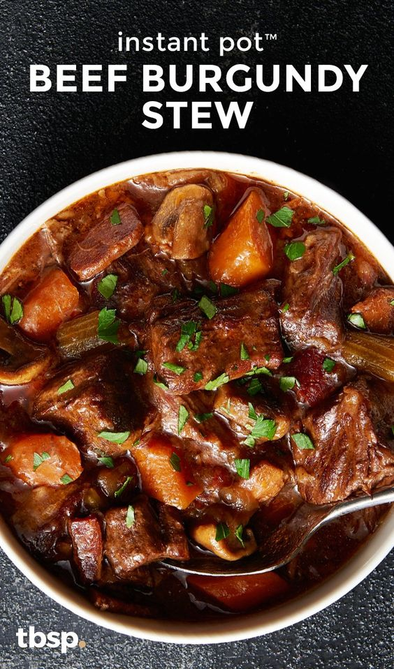 Instant Pot Beef Burgundy Stew #dinner #maincourse #instantpot #beef #burgundy #stew