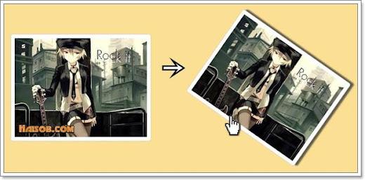 Cara membuat efek hover rotasi dan bayangan pada gambar postingan Blog