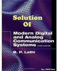 Modern Digital & Analog Communication system B P Lathi Manual solution