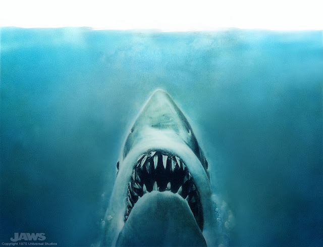 JAWS coming up out of the deep blue sea