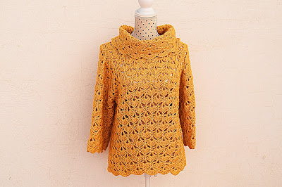 Jersey amarillo a crochet y ganchillo 1
