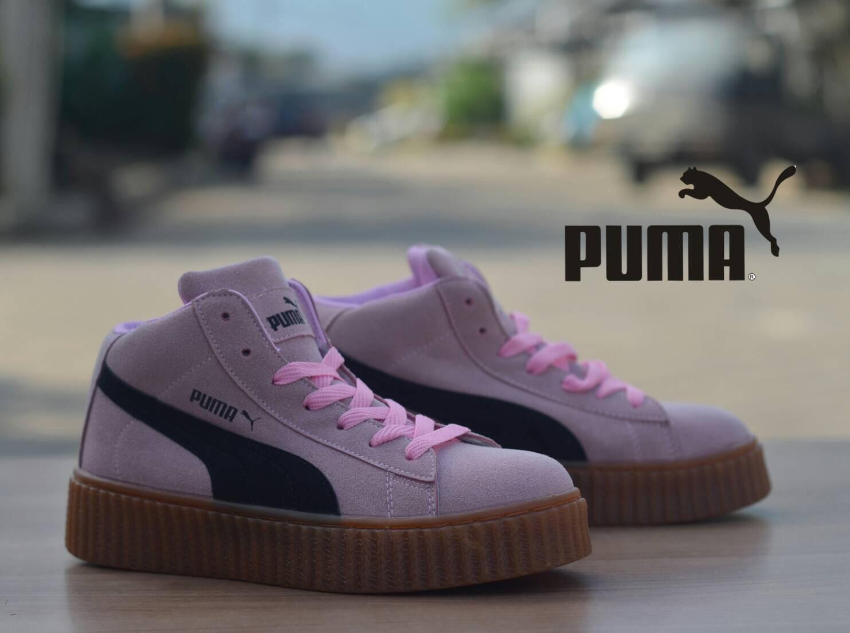 Sepatu Wanita Puma Pink Daftar Harga Terkini Termurah Dan Vicari Hensha Vs7j51 03 Merah Muda 38 Rihanna Women Black Gum