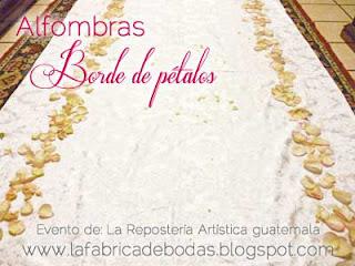 alfombra de petalos bordes o camino rosas