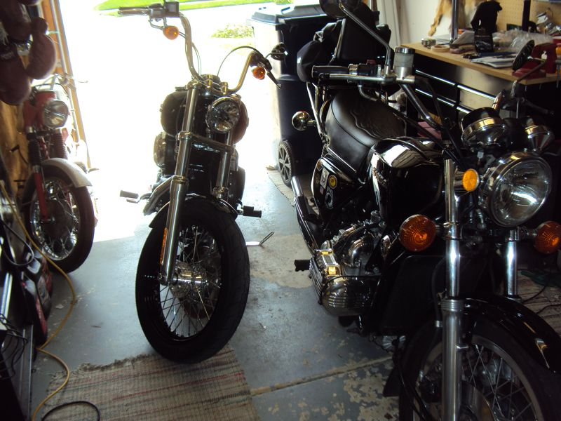 sometimes you need an old man: Naked Goldwing Vs Harley