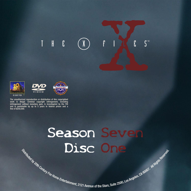 The X Files Season 7 DVD Label Disc1-6
