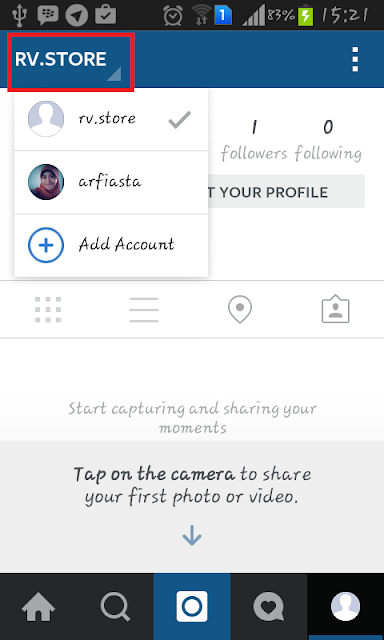 Cara membuat Multiple Account di Instagram - Switch Account