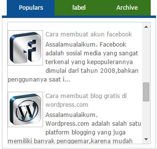 Membuat efek scroll di sidebar blogger