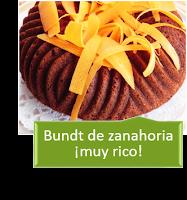 BUNDT DE ZANAHORIA CON THERMOMIX ¡MUY RICO!