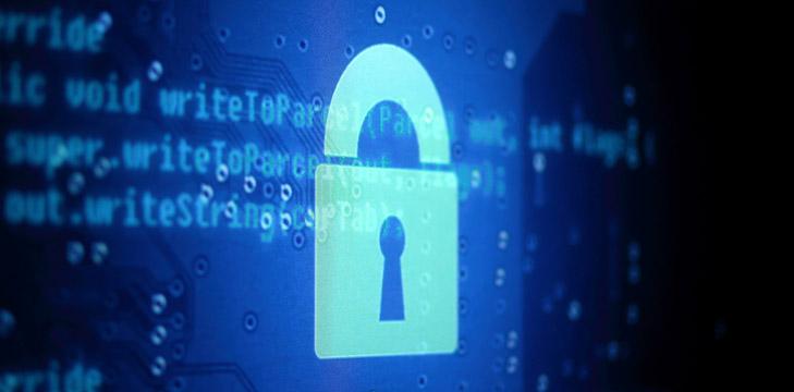 lock on laptop graphic