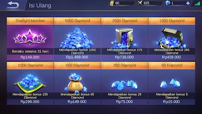 Cara mendapatkan Diamond Gratis Di Game Mobile Legends