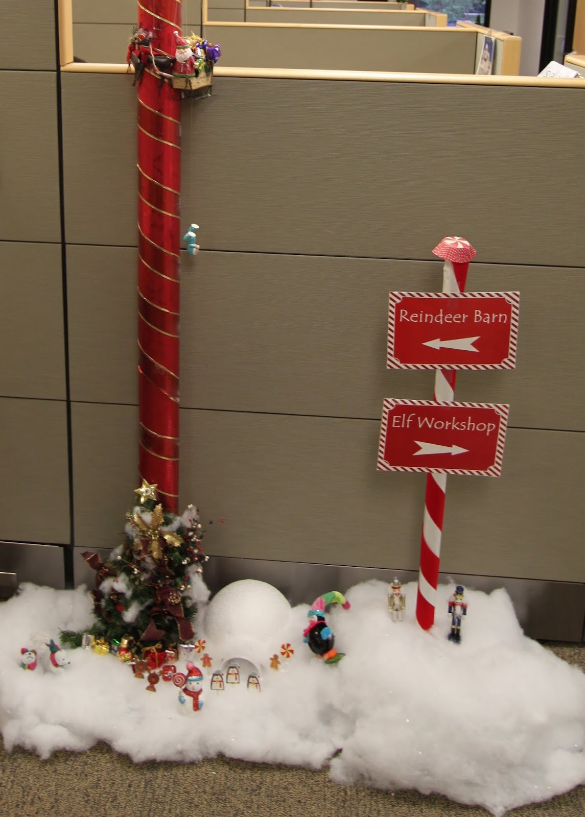 office christmas pole decorating contest decorations for