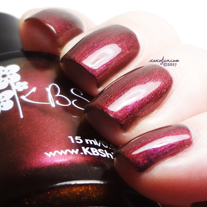 xoxoJen's swatch of KBShimmer Wine Not?