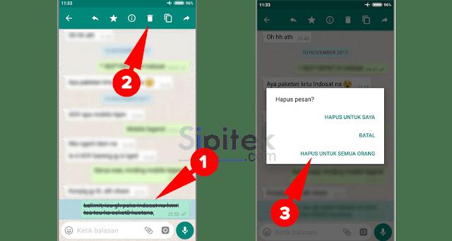 Cara Hapus Pesan WhatsApp yang Terkirim Lebih dari 7 Menit