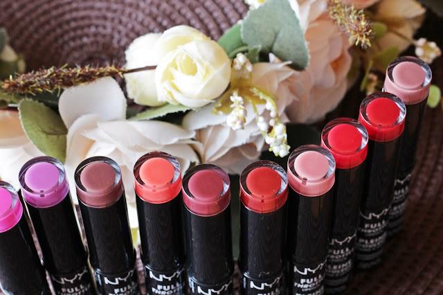 NYX Full Throttle Lipstick Вся линейка помад+свотчи / www.gronskaya.com