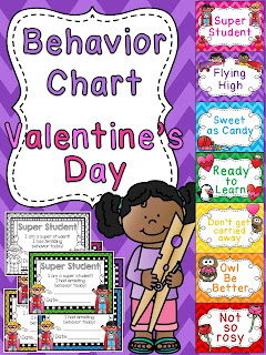 Valentine's Day behavior chart - I love switching them out every month for awesome classroom management