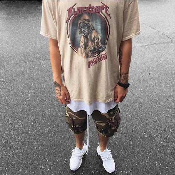 Camisetas Masculinas com Sobreposições