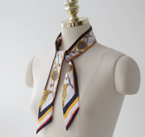 Patterned Mini Silk Scarf