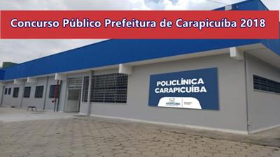Concurso Público Prefeitura de Carapicuíba 2018