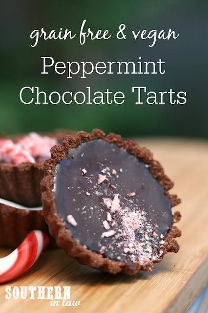 Grain Free Vegan Peppermint Chocolate Tarts Recipe - gluten free, healthy, vegan, sugar free, grain free, paleo, clean eating recipe