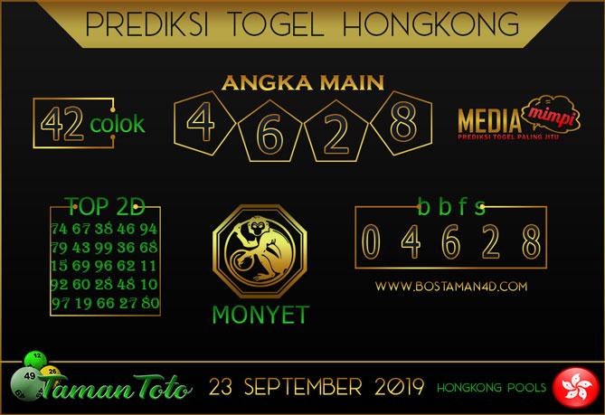 Prediksi Togel HONGKONG TAMAN TOTO 23 SEPTEMBER 2019