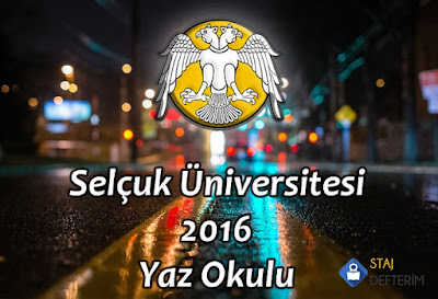 Selçuk Üniversitesi 2016 Yaz Okulu