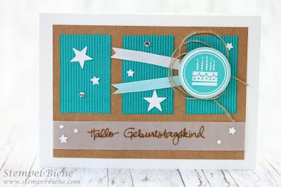 Stampin Up Geburtstagskracher, Stampin Up Geburtstagspuzzle, Match the Skech, Stampin Up Recklinghausen, Geburtstagskarte für Jungs, Stempel-Biene