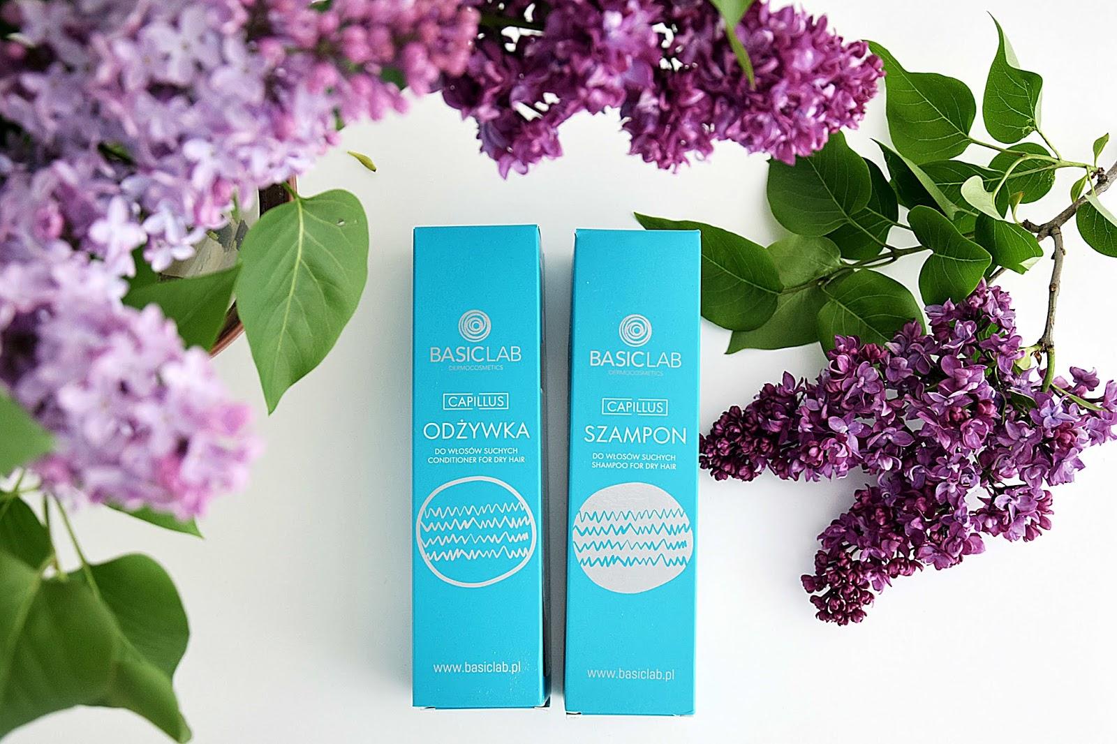BasicLab, szampon i odżywka do włosów suchych