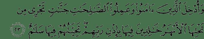Surat Ibrahim Ayat 23