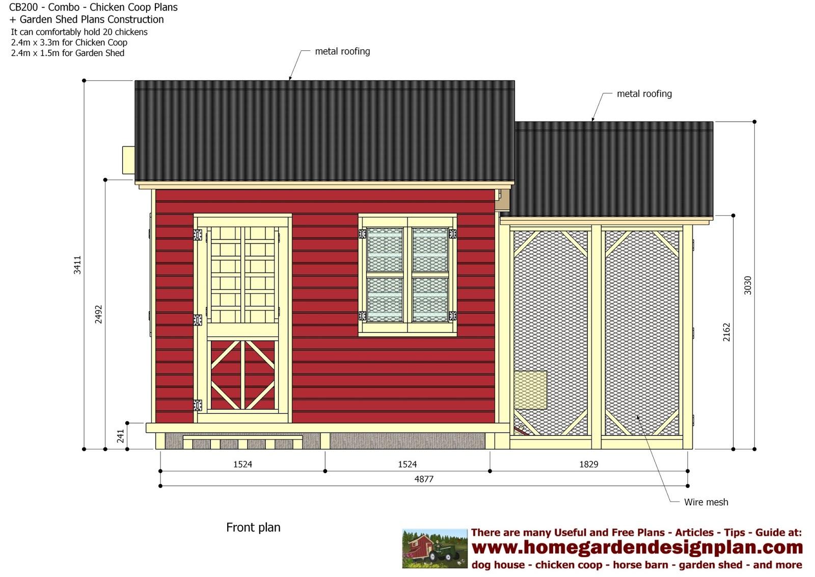 Garden Sheds 3m X 4m home garden plans: cb200 - combo plans - chicken coop plans