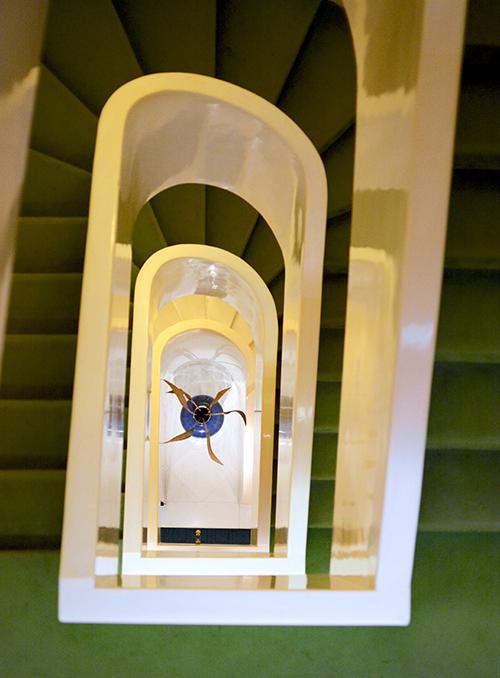 Hotel Albani staircase; Rome