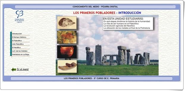 """""""Los primeros pobladores"""" (Aplicación interactiva de Historia de Primaria)"""