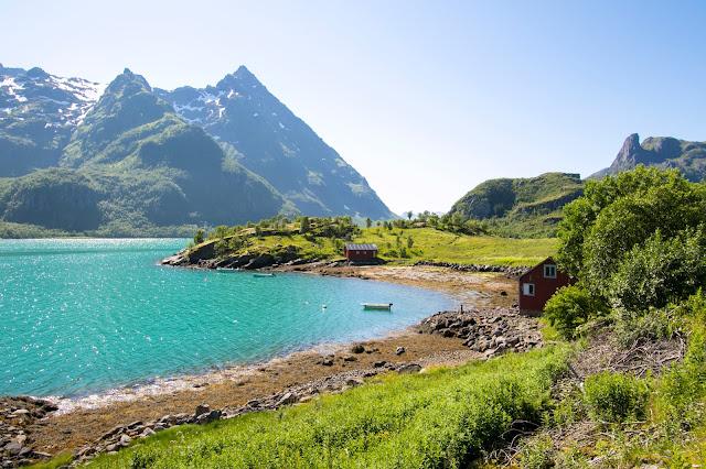 Strada tra Narvik e Svolvaer-Isole Lofoten