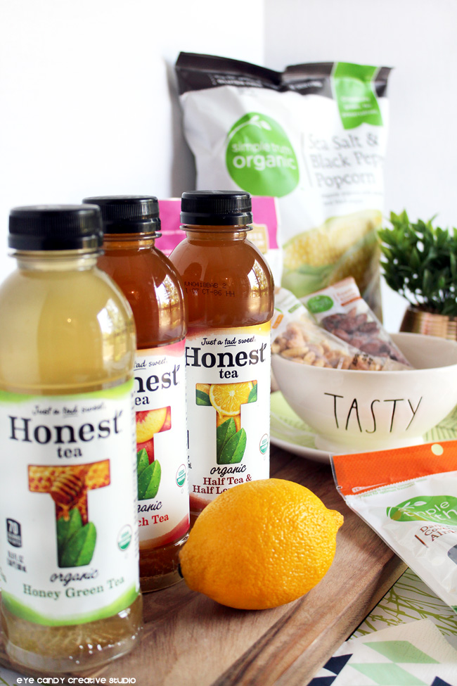 Honest Tea flavors, organic green tea, organic peach tea, Simple Truth